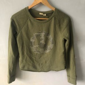 Tops - studded peace sign long sleeve